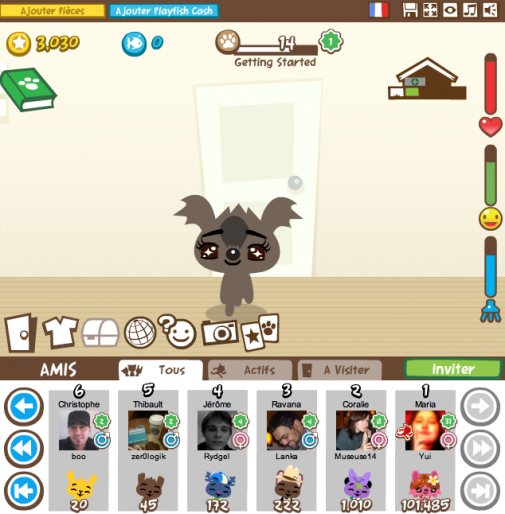 Jeu Facebook : Pet Society