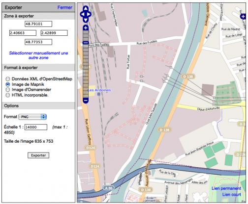 OpenStreetMap, l'export de données
