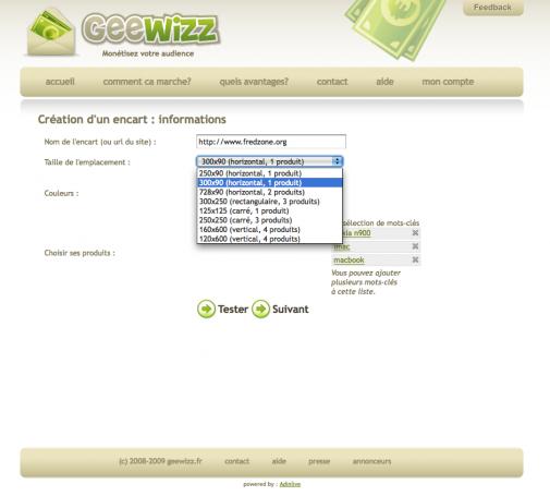 Geewizz, capture 1