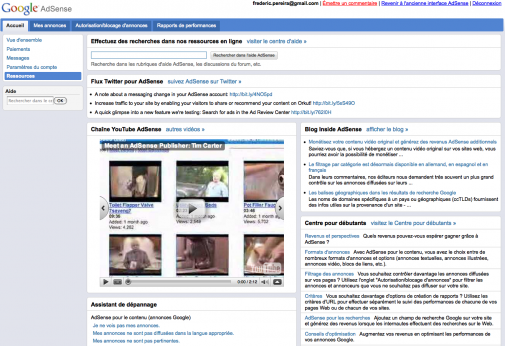 Google adSense : la centralisation des ressources