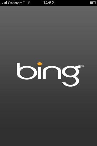 Bing pour iPhone : la page d'accueil