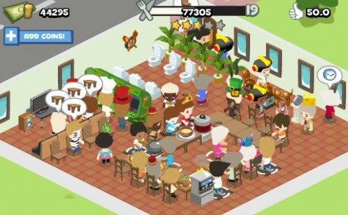 Jeu Facebook : Restaurant City