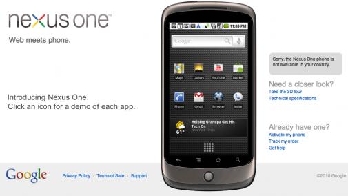Le Nexus One sera multitouch... en Europe ?