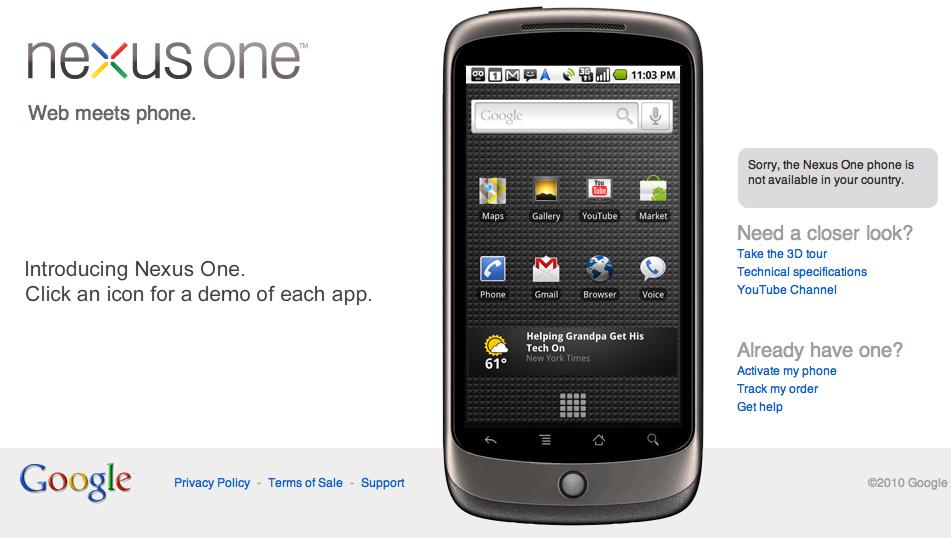 Google : un successeur au Nexus One pour les pro ?