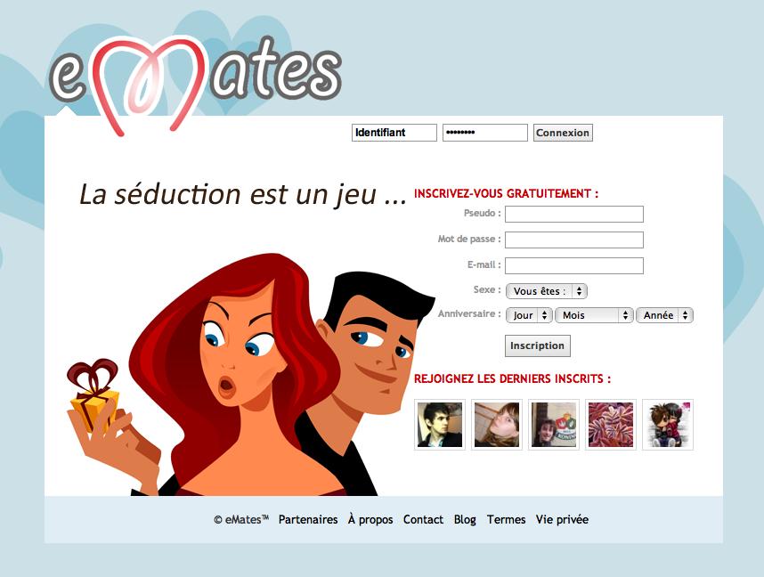 eMates, le réseau social de la séduction