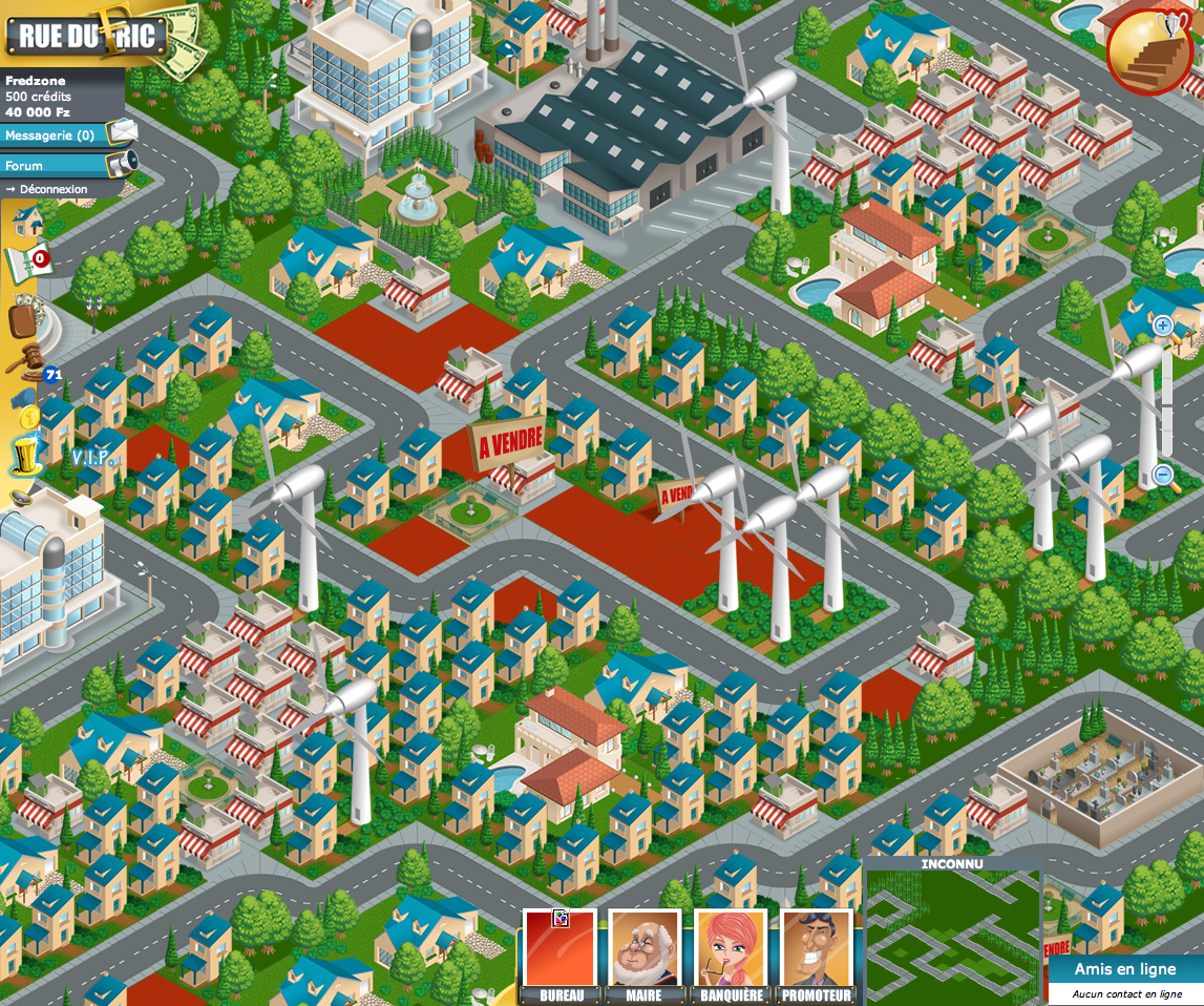 Rue du Fric, un Monopoly gratuit en ligne