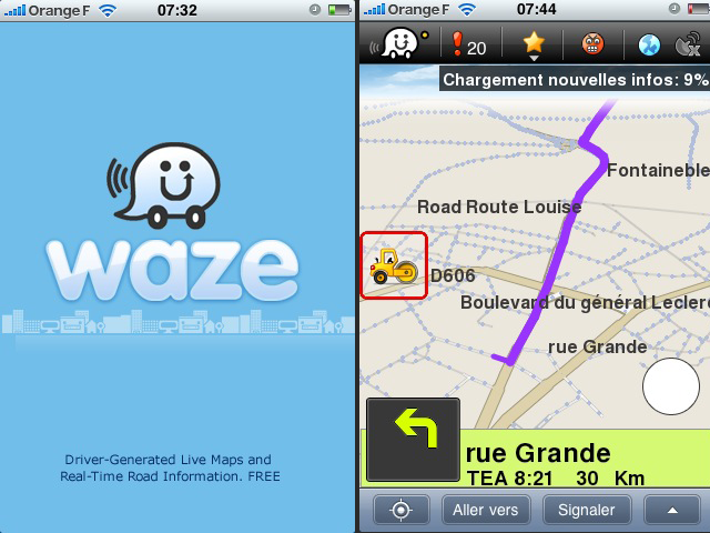 waze le gps social et gratuit arrive en france. Black Bedroom Furniture Sets. Home Design Ideas