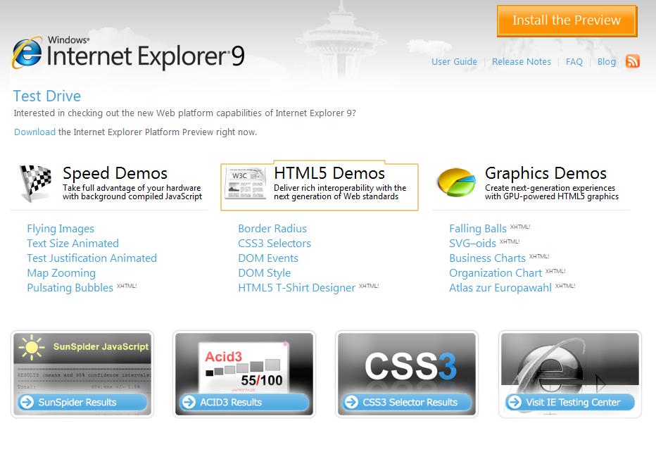 Internet Explorer 9 fait ses premiers pas