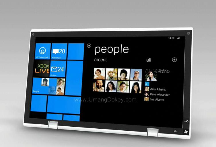 vid o un concept de tablette tactile sous windows phone 7. Black Bedroom Furniture Sets. Home Design Ideas