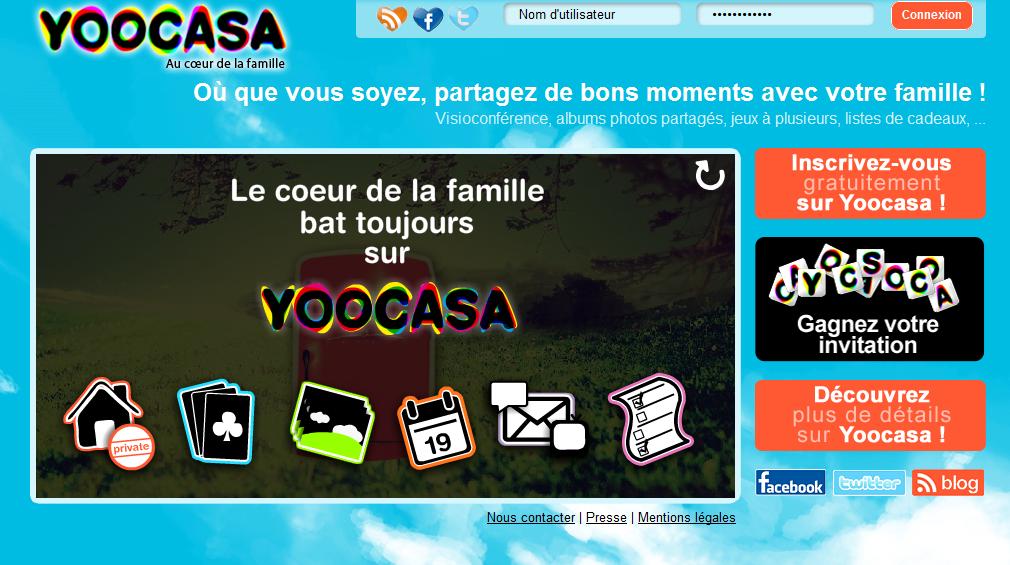 Yoocasa, le réseau social de toute la famille (+ invitations)