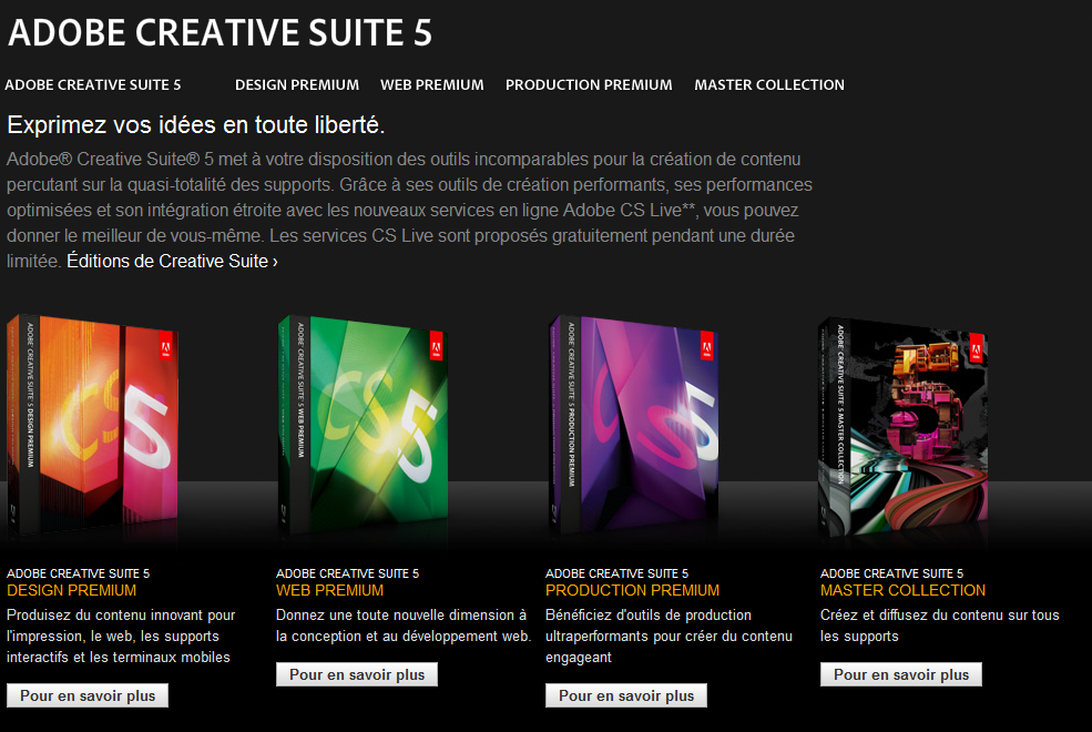 Adobe Creative Suite 5 désormais disponible