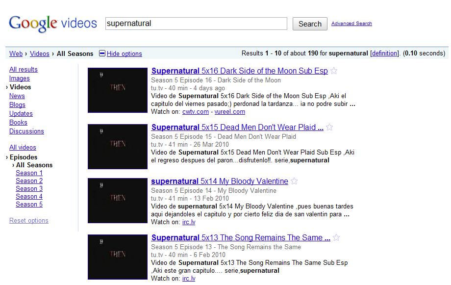 Regarder des séries en streaming avec Google Vidéo