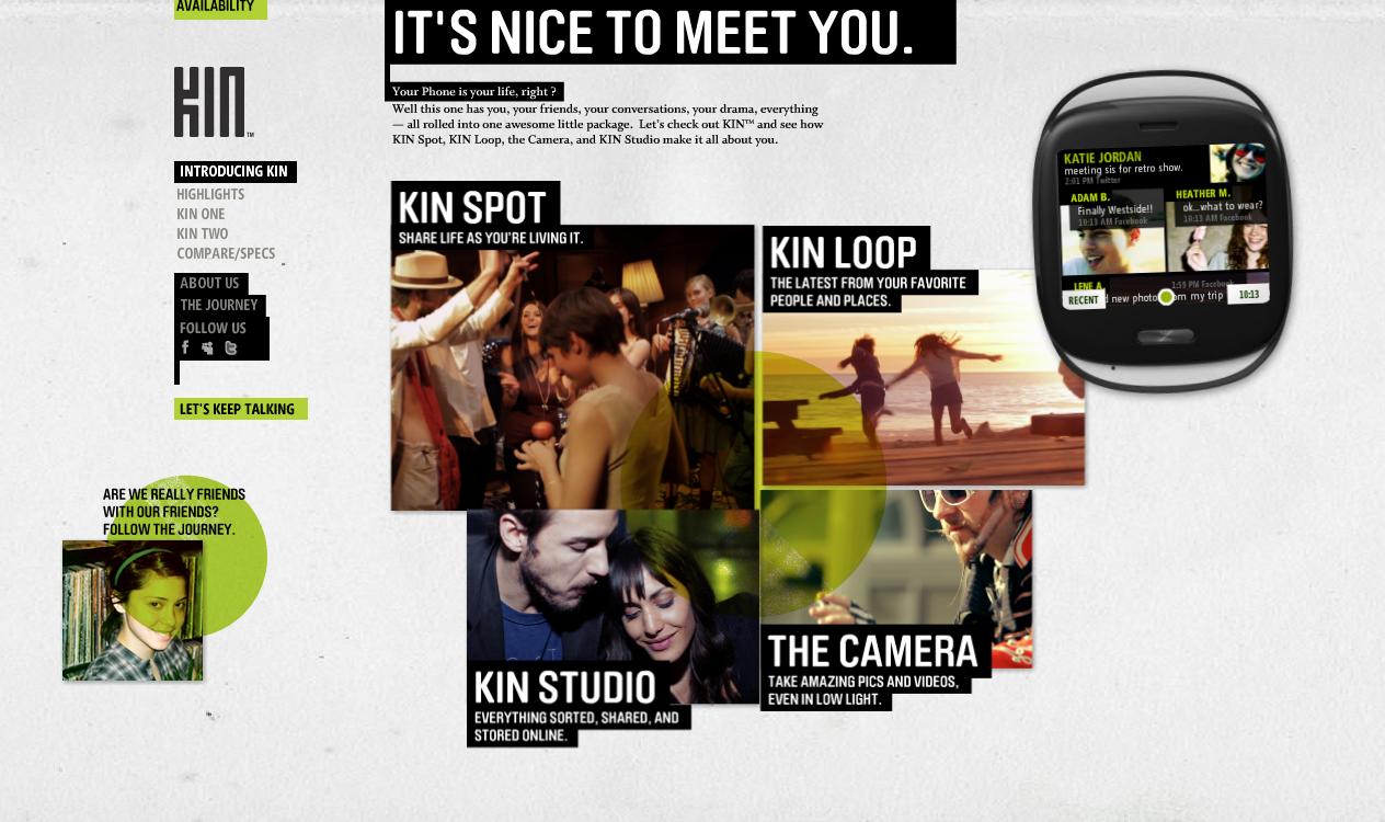 Microsoft : Kin One, Kin Two, deux mobiles orientés réseaux sociaux