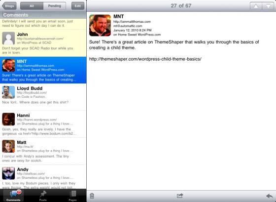 iPad : découvrez l'application Wordpress