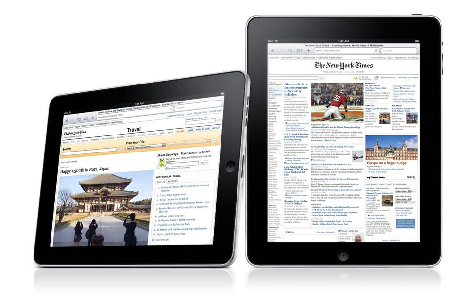 Un iPad contrôlé par une Mighty Mouse
