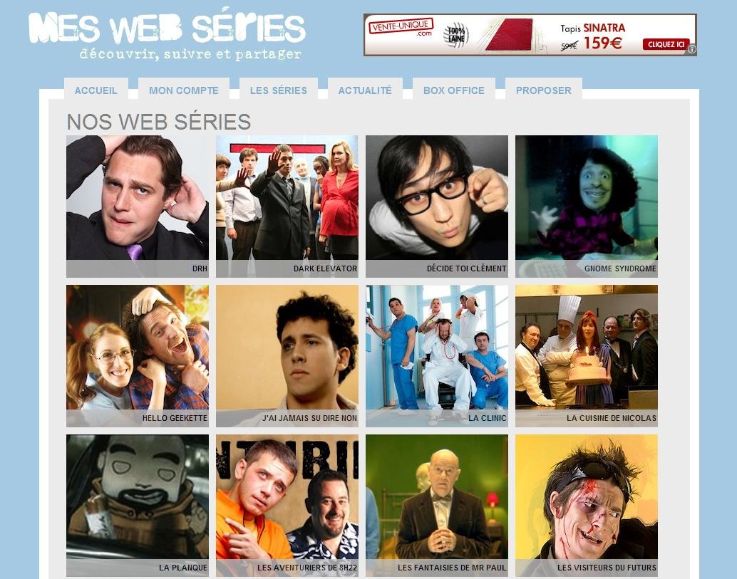 Mes Web Séries, toutes vos webséries à portée de clic