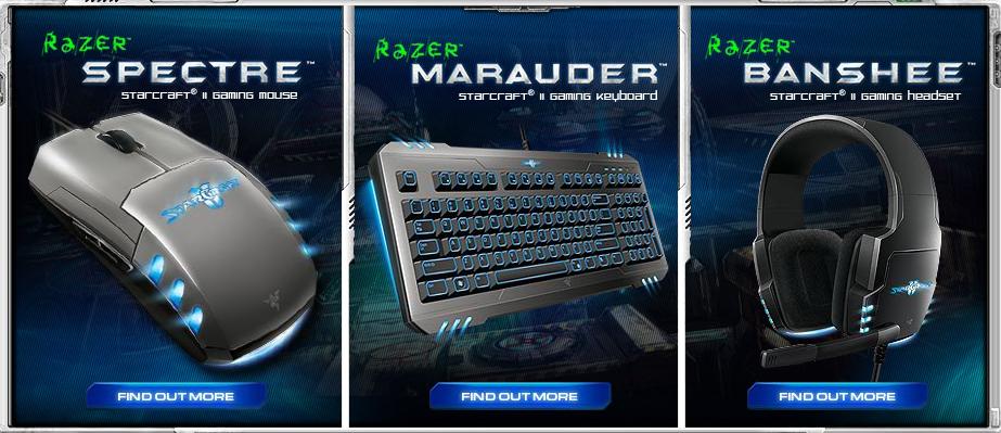 Razer dévoile ses périphériques inspirés de Starcraft 2