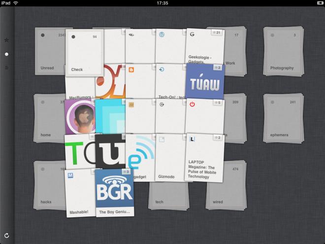 Reeder, un chouette lecteur RSS pour l'iPad