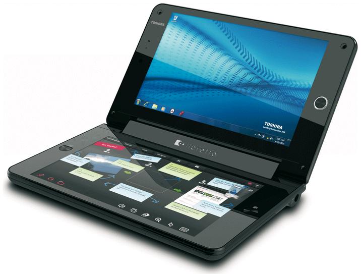 Toshiba Libretto W100 : un ordinateur doté de deux écrans tactiles