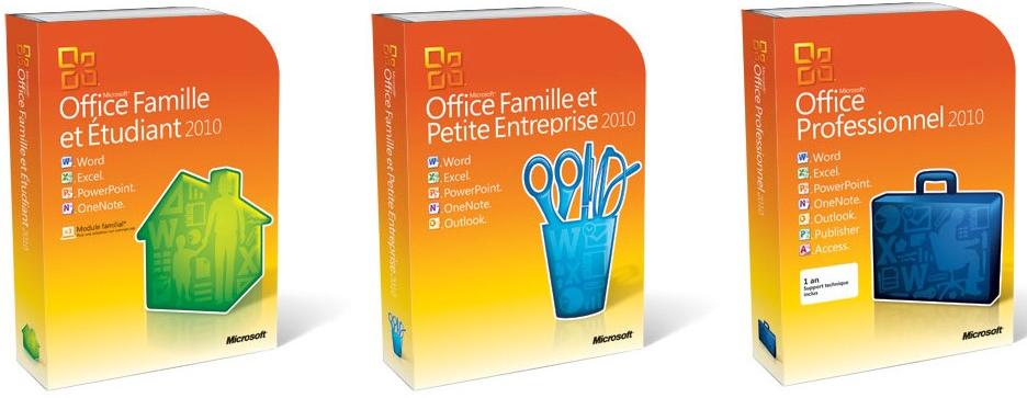 Microsoft office 2010 les nouveaut s et les tarifs - Office famille et petite entreprise 2010 ...