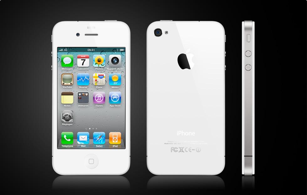 iPhone 4 blanc : pas avant la fin de l'année