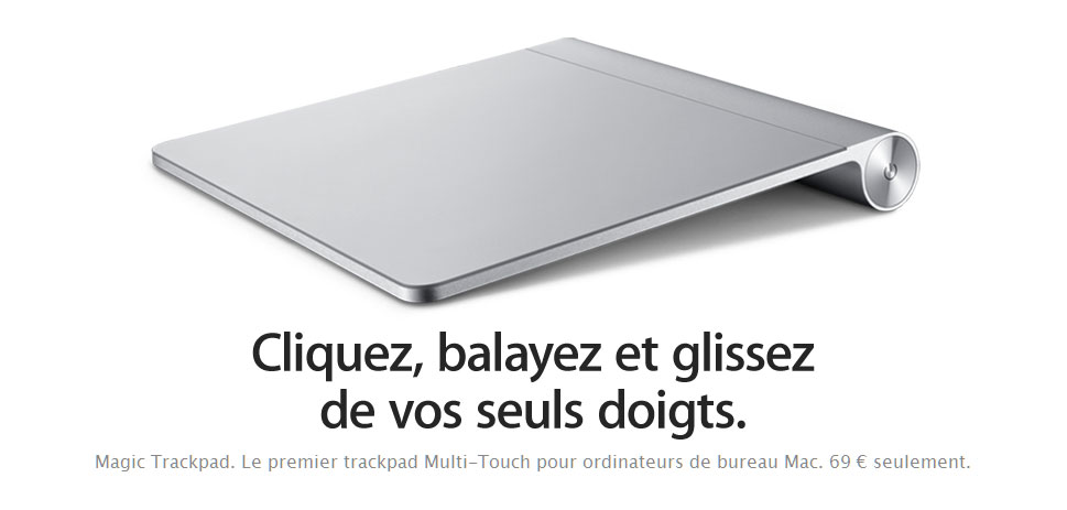Apple lance le Magic Trackpad