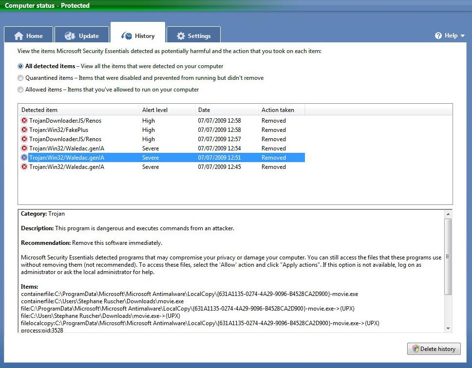 Télécharger la nouvelle version de Microsoft Security Essentials