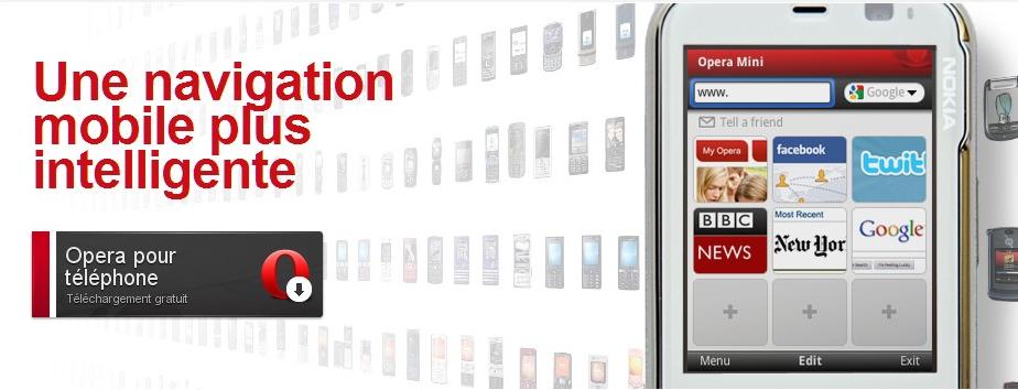 Opera Mini 5.1 disponible sur les téléphones Android