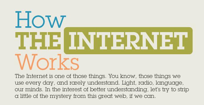 Infographie : le fonctionnement d'internet