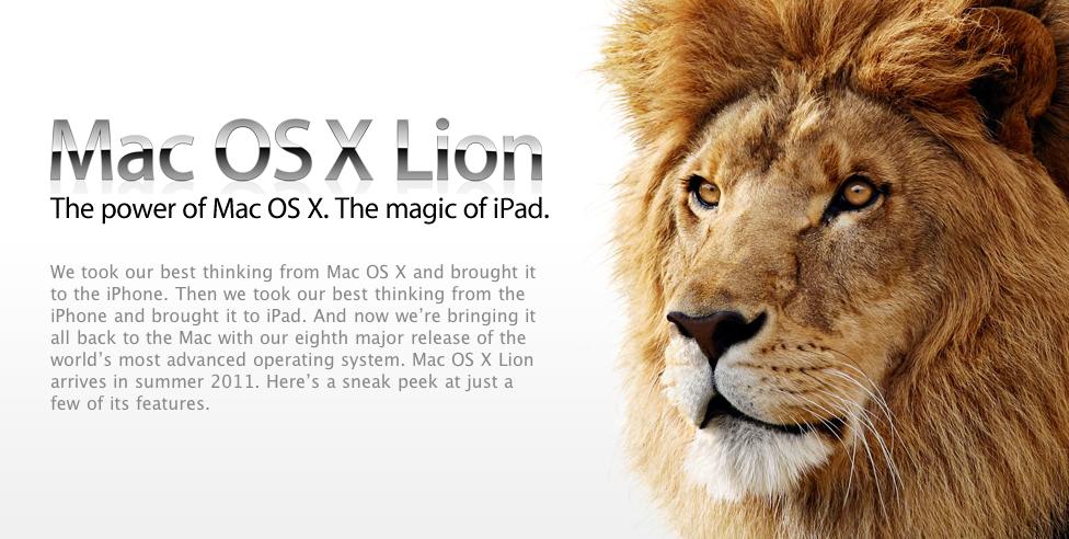 Mac OS 10.7 Lion : lancement en été 2011, iOS inside !