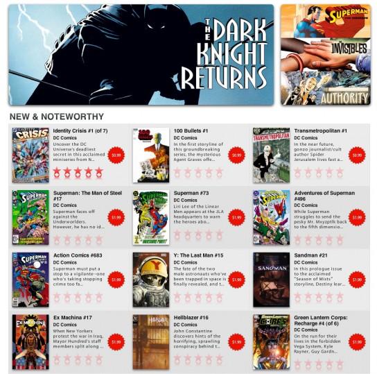 DC Digital Comics Store, achète des comics et synchronise les sur tes iDevices Digital-comics-2-544x539