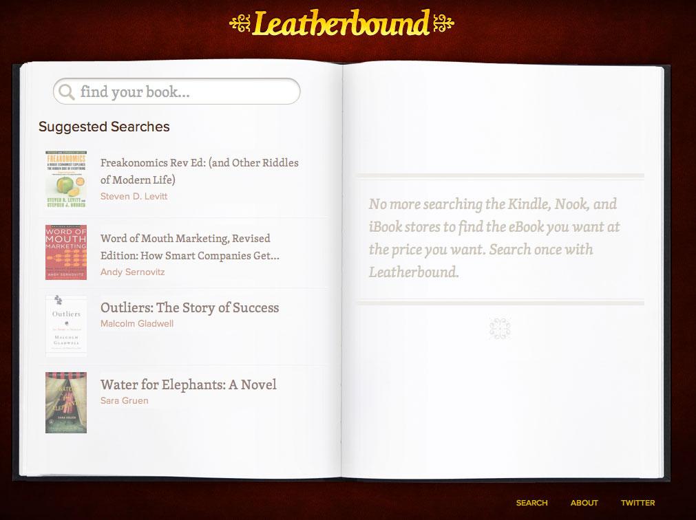 Leatherbound un chouette comparateur de prix pour ebooks for Comparateur de prix pour hotel