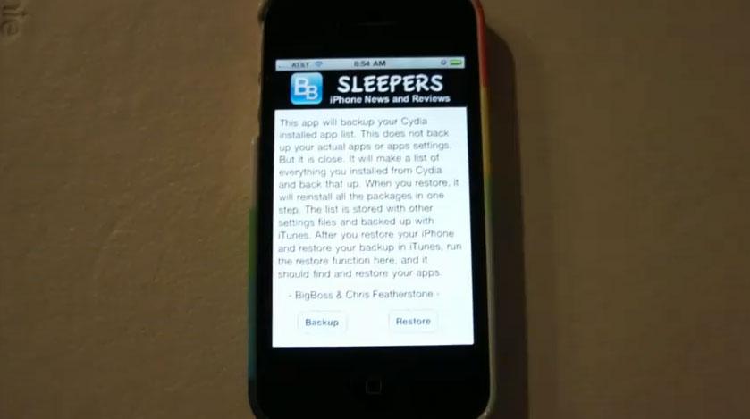 AptBackup, pour sauvegarder et restaurer facilement votre iPhone / iPod Touch / iPad