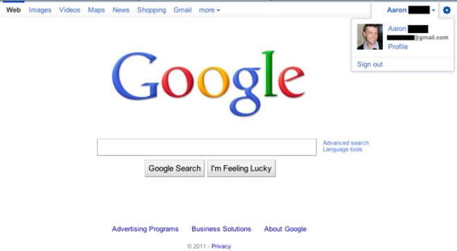 Google : bientôt une nouvelle barre de navigation avec intégration du profil personnel ?