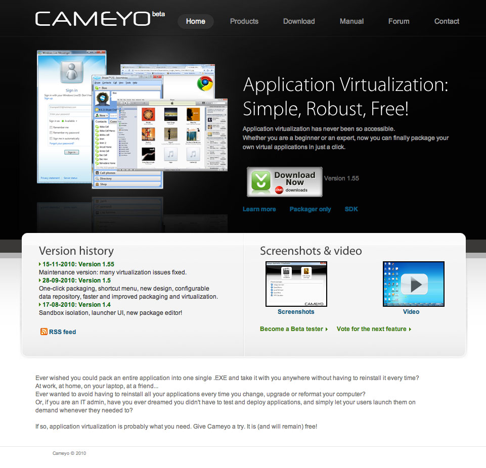 Cameyo, pour créer une version portable de n'importe quel logiciel