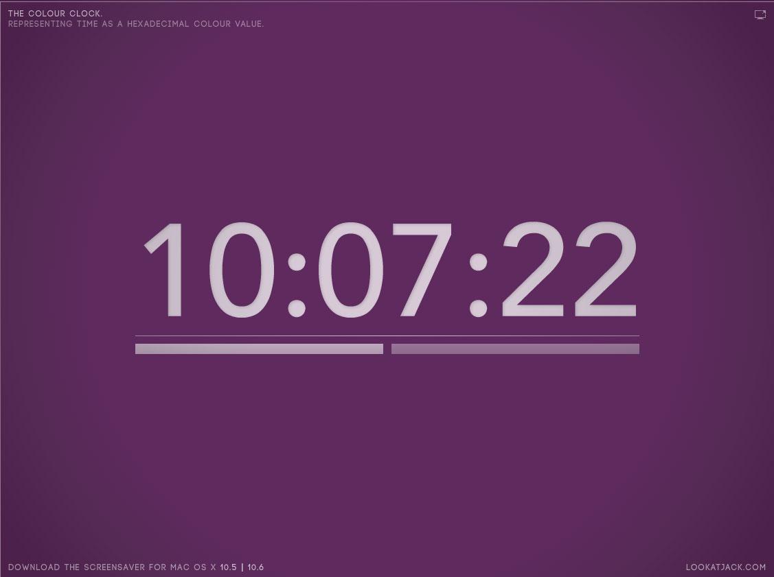 The Colour Clock, une horloge web qui change de couleur