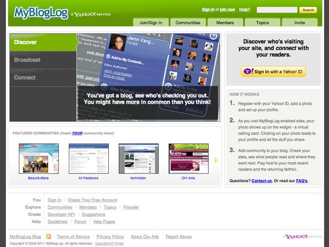 Yahoo officialise la fermeture de MyBlogLog