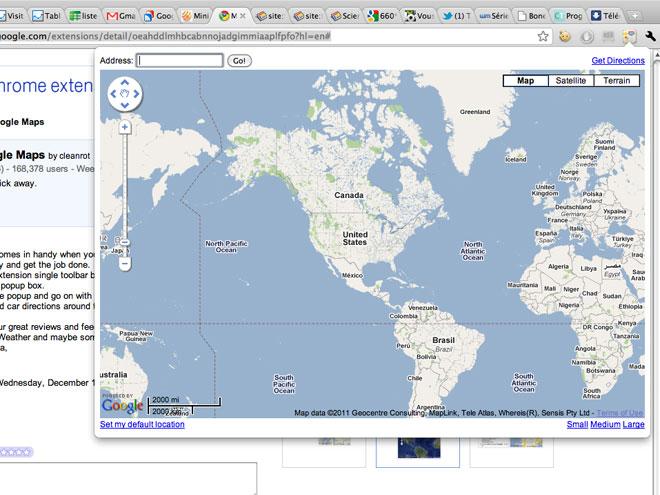 Intègre Google Maps à Chrome !