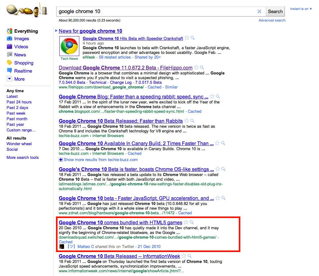 Google Social Search : mise à jour de la recherche sociale