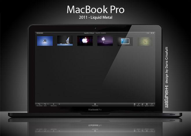 "Un joli mockup ""Liquid Metal"" pour le prochain MacBook Pro"