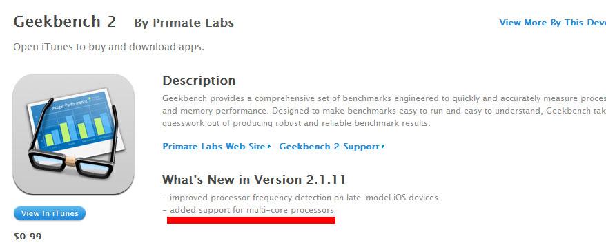 Des processeurs multi-core pour l'iPhone 5 et l'iPad 2