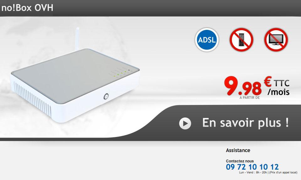 OVH ADSL no!Box : l'offre est disponible
