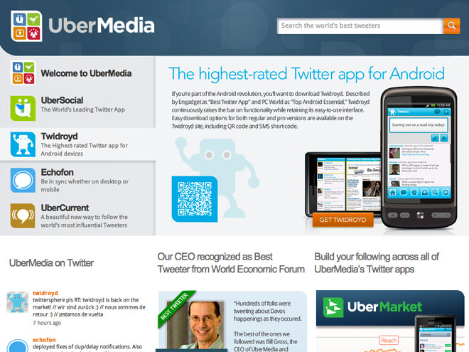 UberTwitter et Twidroyd bloqués par Twitter