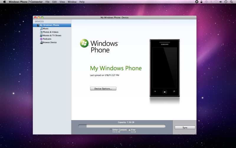 Mac OS : Windows Phone 7 Connector disponible en version finale