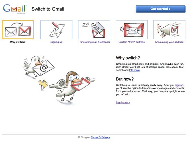Switch to Gmail, pour basculer facilement votre messagerie sur Gmail