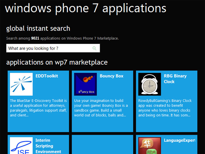 9.000 applications pour Windows Phone 7 !