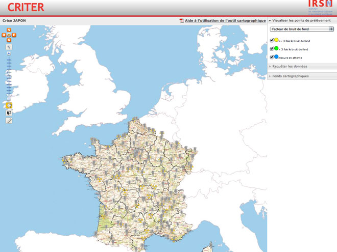 Criter Japon, pour surveiller la radioactivité en France