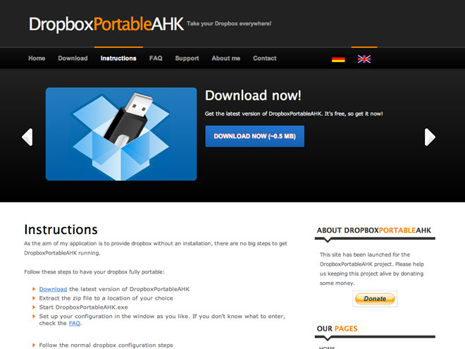 Dropbox version portable, c'est possible avec Dropbox Portable AHK !