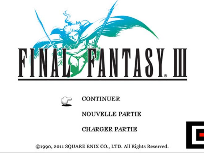 Final Fantasy III disponible sur iOS !