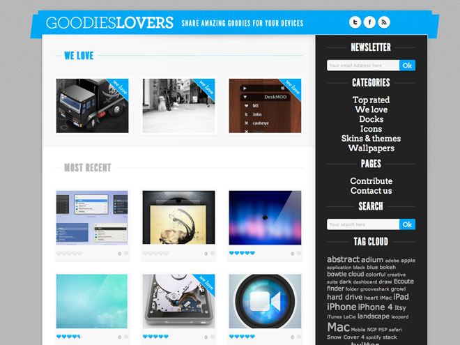 GoodiesLovers, le plein de goodies pour ton Mac, ton iPhone ou ton iPad